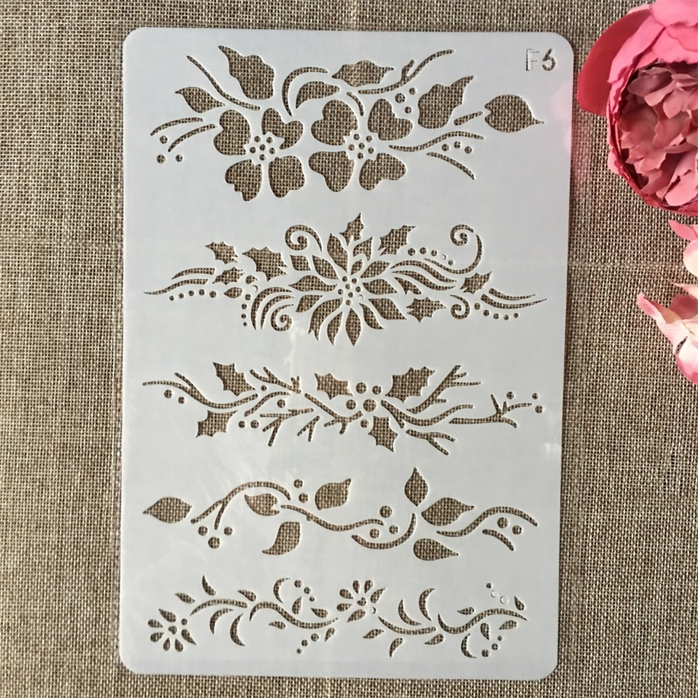 26cm Flower Leaves Line DIY Layering Stencils Wall Painting Scrapbook Coloring Embossing Album Decorative Card Template