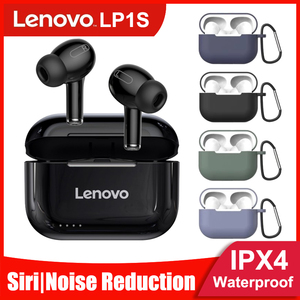 Lenovo LP1/LP1S Bluetooth Earphone HD Stereo noise cancelling Wireless Headset Sports TWS Earbuds HiFi With Mic Wireless earbuds