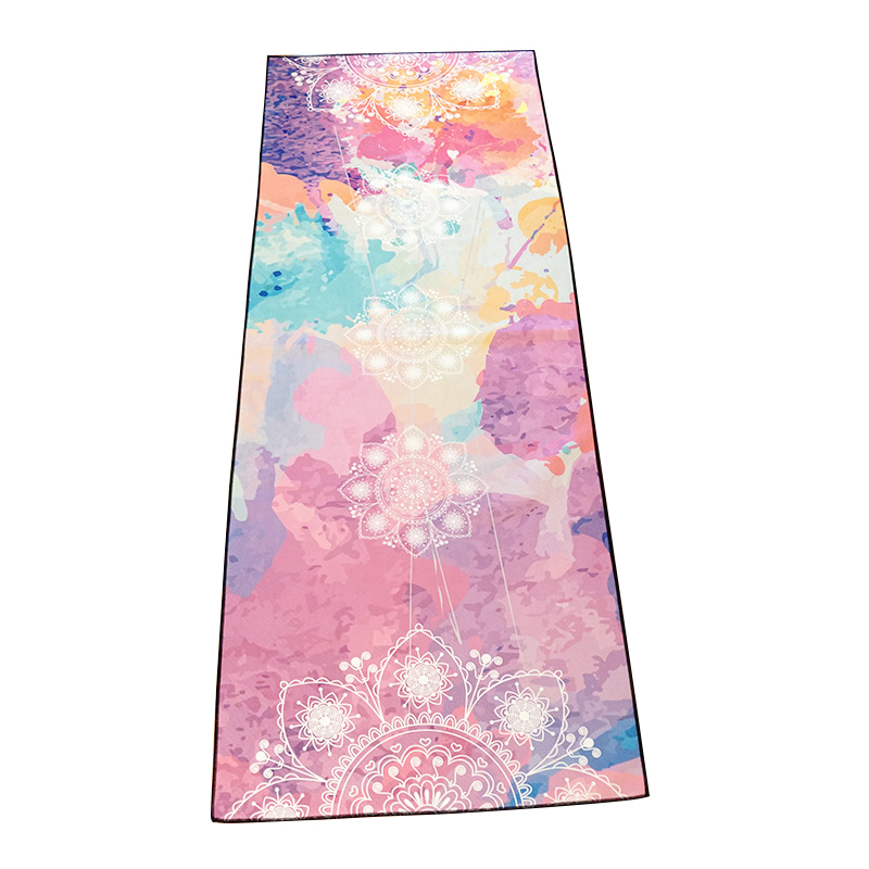 Light Portable Yoga Mat Towel Sweat-absorbent Anti-slip Suede Hot Yoga Pad Cover Pilates Fitness Exercise Blankets Machine Wash