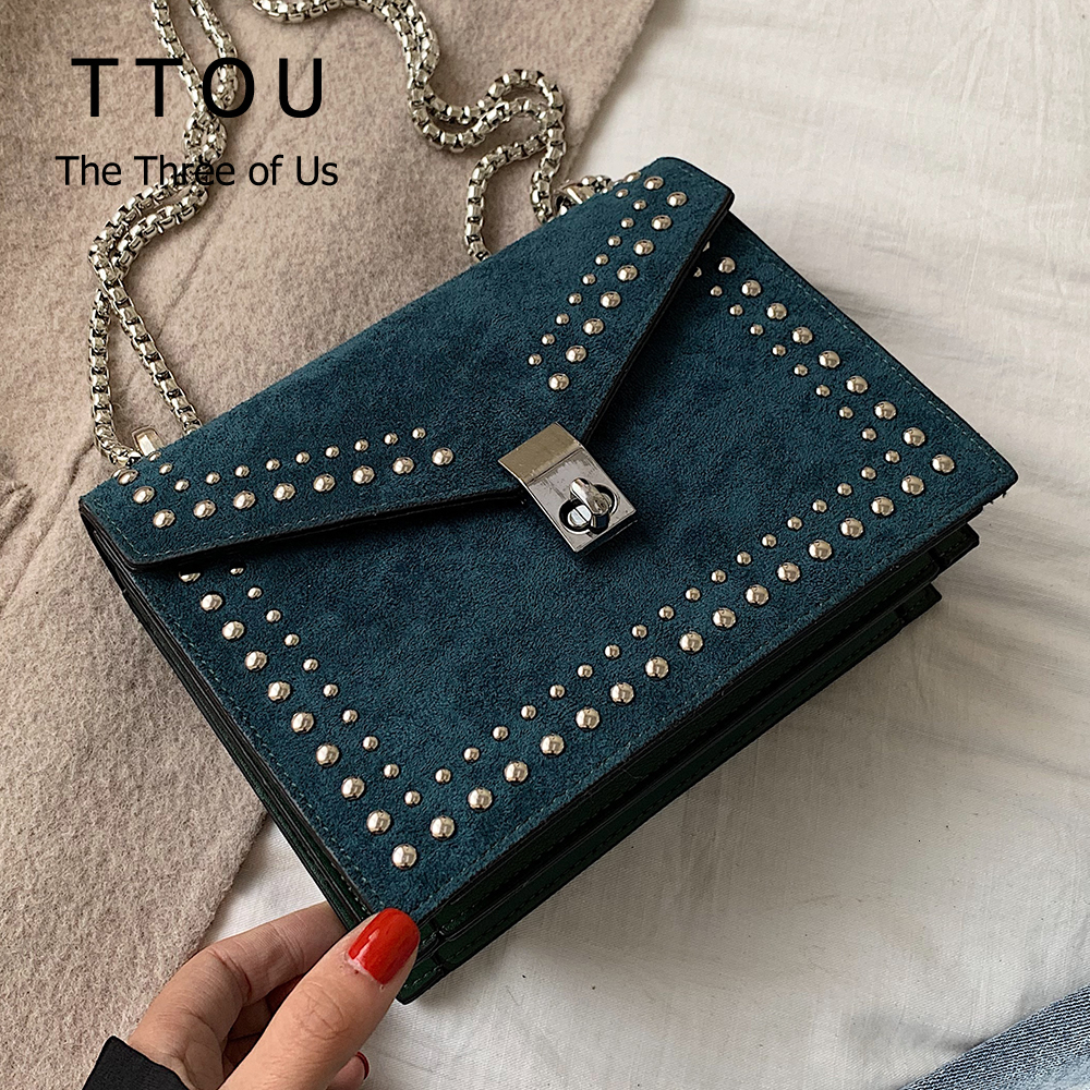 High StreetScrub Leather Women HandBag Vintage Rivet Lock Crossbody Bag Female Travel Mini Bags ForLaddiePartyMessenger Bags