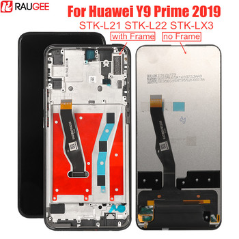 6.59''LCD Display for Huawei Y9 Prime 2019 STK-L21 L22 LX3 LCD Touch Screen with Frame Digitizer For Huawei Y9 Prime 2019 Screen