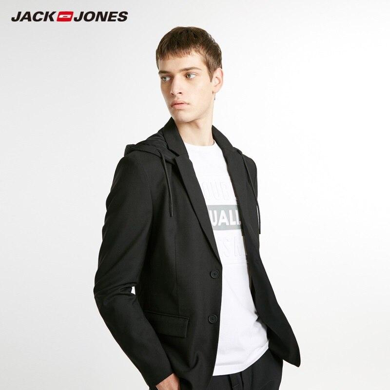 JackJones Men's Slim Fit Fashion Wool Casual Blazer Menswear Coats 218408504
