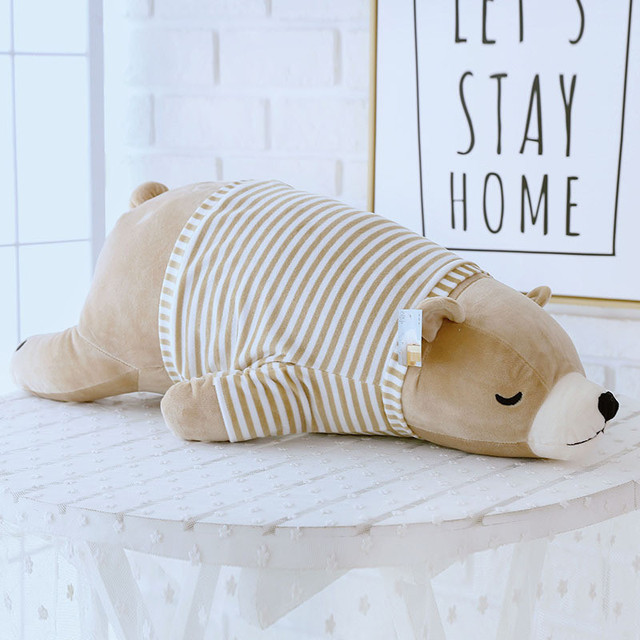 Lovely Soft Polar Bear Animal Doll Stuffed Plush Toy Home Party Wedding Kid Gift Brown Kids Toys Toys For Children Baby Toys