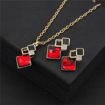 Fashion Crystal  Women's Jewelry Set  3