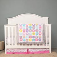 3pcs Pink Baby Bedding Set Baby cradle cot bedding kit berço cunas  Fitted Sheet  Crib Quilt  Dust Ruffle