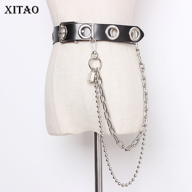 XITAO Lock Metal Cummerbunds Fashion New Women 2020 Spring Pose Small Fresh Minority Elegant Casual Loose Cummerbunds XJ3442