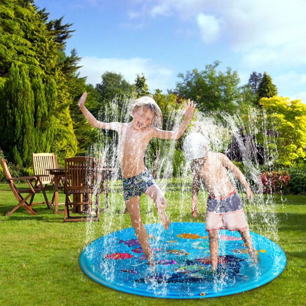 Piscina Infantil Water Games Beach Pad Mat Lawn Inflatable Spray Water Cushion Swiming Pool Toy