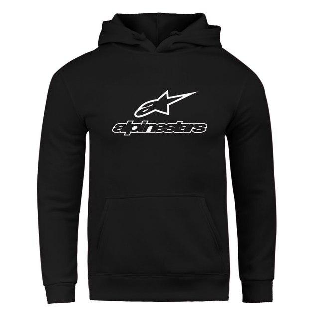 Fall / Winter 2020 Alpine Star Hoodies Men's Fleece Jacket Alpine Star Biker Sweatshirt Men's Pullover Hip Hop Casual Hoodie