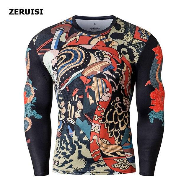3D Printed Harajuku Fitness Tops t-shirt compression shirts Anime Men Sports Fashion Japanese male Top Clothing 3