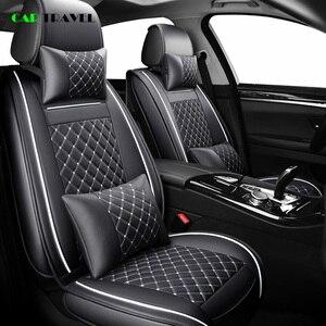 Image 2 - (Frente + traseira) cobertura de assento do carro de couro luxo 4 temporada para toyota rav4 2017 2013 CH R 2017 2016 corolla e120 e130 estilo do carro