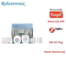 Tuya Smart Home ZigBee Hub PIR Motion Detector Door Sensor EU Type 16A Power Energy Monitoring Kit