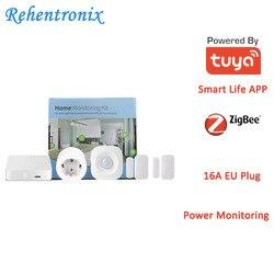 Tuya Smart Home ZigBee Hub Pir-bewegungsmelder Tür Sensor EU Typ 16A Power Energy Smart Überwachung Kit