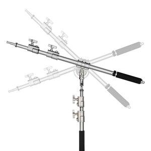 """Image 4 - Paslanmaz çelik uzun 232cm MF 01 fotoğraf stüdyosu kiti bom kolu 94 cm 232 cm 37 """" 91 """"ışık standı çapraz kol"""