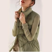 Autumn Light White Goose Down Jacket Loose Casual Vest Sleeveless Windproof Vest  Korean Fashion Women Jacket