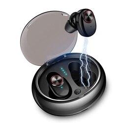Zestaw słuchawkowy Bluetooth V5 5.0 EDR  2 szt. Bezprzewodowe douszne Mini True Bluetooth 5.0 słuchawki stereo Bass słuchawka douszna (czarny) w Słuchawki douszne i nauszne Bluetooth od Elektronika użytkowa na