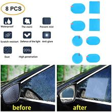 Rearview-Mirror-Film Sticker Anti-Fog Clean-Rainproof Car-Hd 2/8pcs