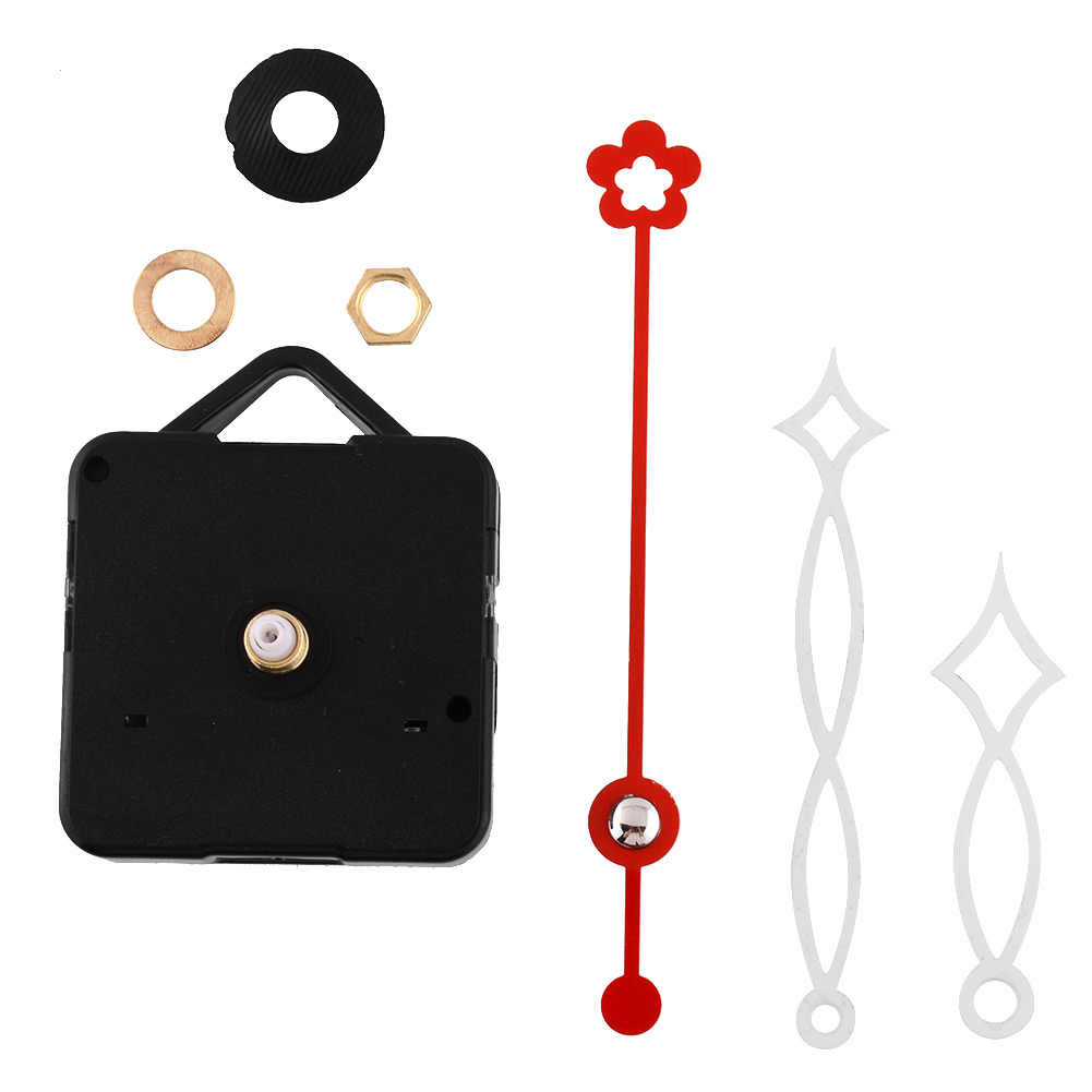 Quiet Silent Quartz Clock Movement White&Red Hands Mechanism Tools Kit