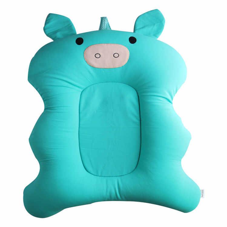 Taşınabilir bebek duş hava yastığı yatak bebekler bebek bebek banyo Pad kaymaz banyo paspası yenidoğan bebek güvenlik güvenlik banyo oturağı