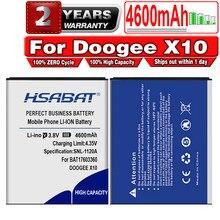 Hsabat bat17603360 4600 mah bateria para doogee x10 + número de rastreamento