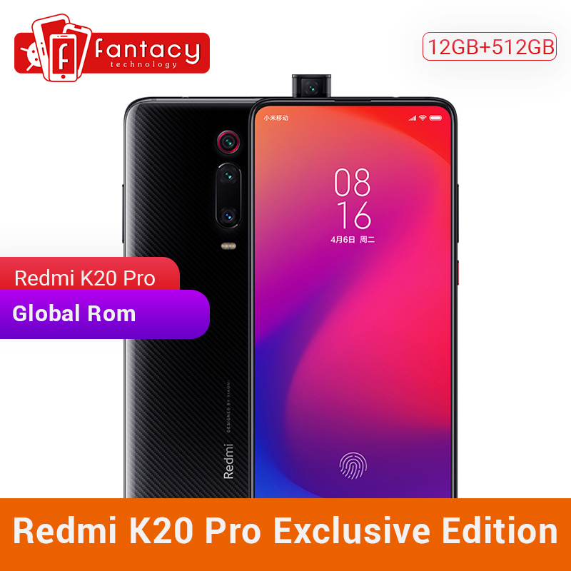 Privilege Edition Xiaomi Redmi K20 Pro 12GB 512GB Snapdragon 855 Plus CellPhone 6.39 Inch AMOLED 48MP Triple Cameras 27W Charger