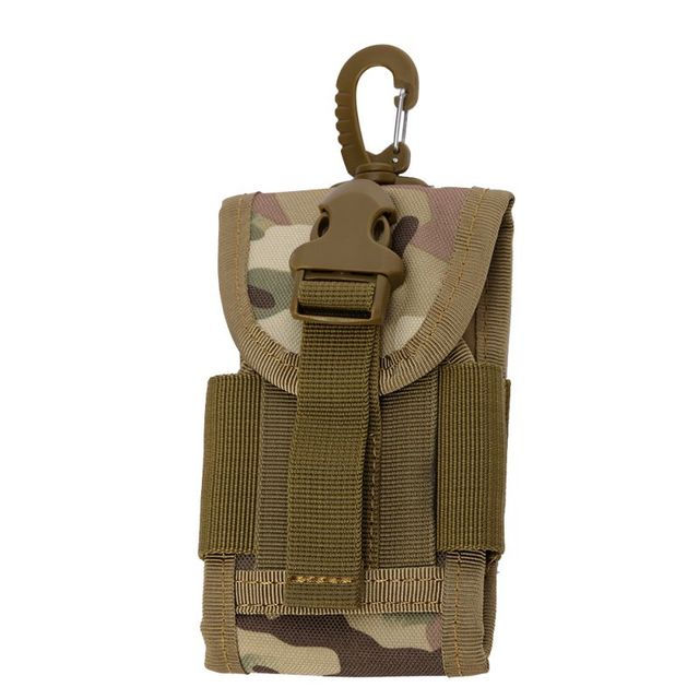 4.5 Inch Molle Bag Tactical Wallet Card Pouch Military Waist Bag Waterproof Card Key Holder With Carabiner For Camping Hunting 3
