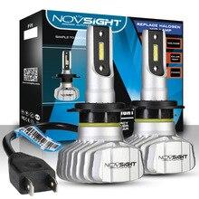 NOVSIGHT רכב פנס H4 Hi/Lo קרן LED H7 H1 H3 H8 H9 H11 H13 9005 9006 9007 50W 10000lm 6500K אוטומטי פנס ערפל נורות