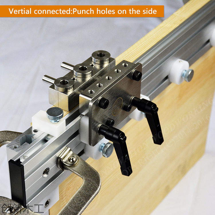Three In One Punch Positioner Dowelling Jig For Furniture Fast Connecting Woodworking Drill Guide Kit Location DIY Kit