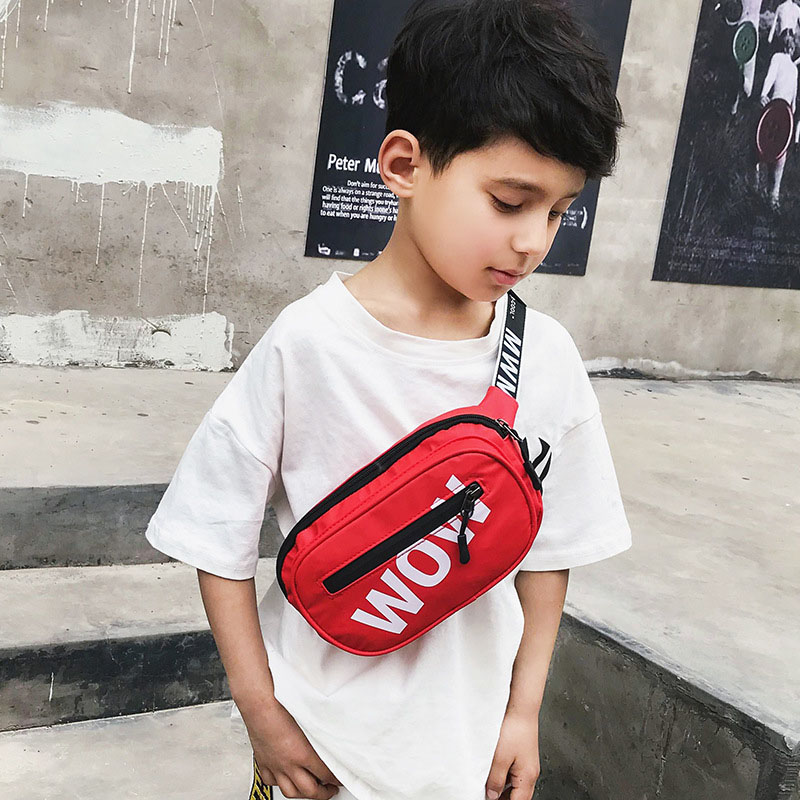 New Child Waist Bag Boy Chest Bag Trend Belt Bags High Capacity Kidney Funny Bags Unisex Banana Bags Teens Crossbody Pack