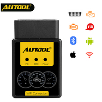 AUTOOL A1 OBD Scanner ELM327 Bluetooth Car OBDII Diagnostic Tool WIFI Automobile OBD2 ELM 327 Scan Tool for iPhone for Android