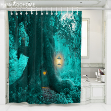 Horror Tree House Halloween Shower Curtain Waterproof Polyester Bathroom Fabric for Bathtub Art Decor Bath duschvorhang