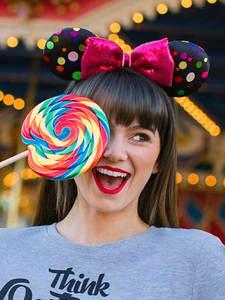 Disney Girl Toys Headband Hair-Hoop Party-Headwear Birthday-Party-Decoration Ears Mickey