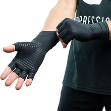 1 Pair Women Men Copper fiber Therapy Compression Gloves Hand Arthritis Joint Pain Relief Half Full Finger Therapy Gloves Wrist