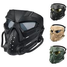 Hunting Masks Tactical Paintball Anti-Fog PC Lens Mask Protective Combat War Games Face Cover Military Airsoft Gun Accessories