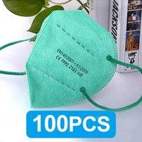 100PCS Green FFP2