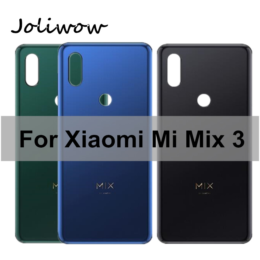 Original Ceramic cover For Xiaomi Mix 3 Battery Back Cover Rear Housing Door Glass Cover For Xiaomi Mi Mix 3 Battery Cover Mix3