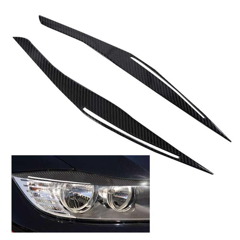 Carbon Fiber Headlight Eyebrow Eyelid Cover For BMW E90//E91 328i 335i 2006-2011