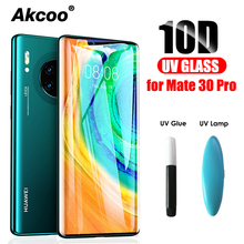 Akcoo Mate 30 Pro screen protector UV full glue tempered glass for Huawei film P30 cover