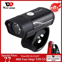 WEST RADFAHREN Fahrrad Licht L2 LED Fahrrad Scheinwerfer Rücklicht Kit USB Akku Taschenlampe Fahrrad Taschenlampe Lampe