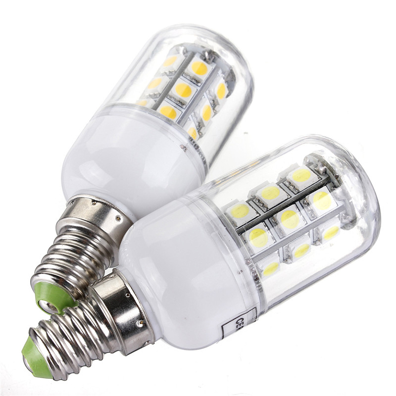 1pcs E14 Energy Saving Corn Light Bulb <font><b>3W</b></font> 350LM 27 <font><b>LED</b></font> 5050 SMD Lamp Bulbs AC/DC12V Pure/Warm White Support Dropshipping image