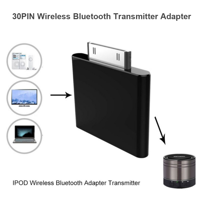 Adapter For Earphone 30Pin Bluetooth Transmitter Adapter Hifi Audio Dongle for iPod Classic Touch Wireless Card