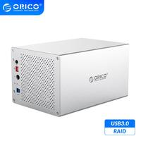 ORICO WS Series 3.5'' 5 Bay USB3.0 with RAID HDD Docking Station Aluminum Support 50TB 5Gbps HDD Enclosure 12V Power HDD Case