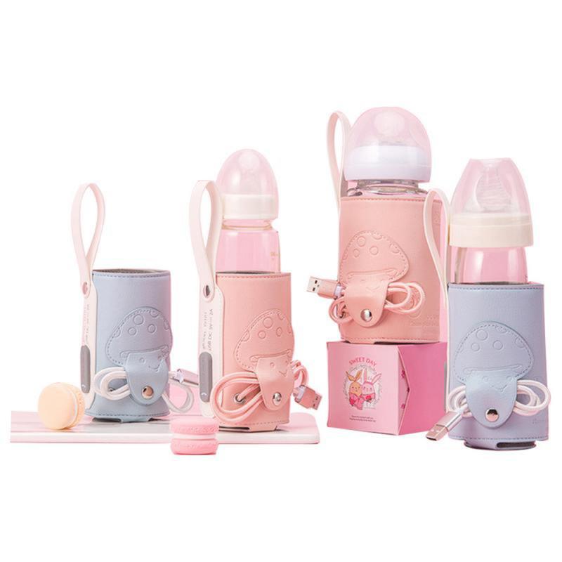 Garrafa de enfermagem isolamento capa universal aquecimento manga usb carregamento temperatura constante ppsu leite garrafa alimentador sacos aquecidos