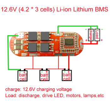 BMS 3S 4S 5S 25A 12.6V 16.8V 21V 18650 Li-ion Lithium Battery Protection Circuit Charger Board PCM Lipo Balance Cell PCB Module недорого