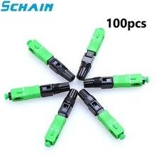 SC APC Schnelle Stecker Embedded Stecker FTTH Werkzeug Kalten Faser Schnelle Stecker SC Fiber Optic Connector