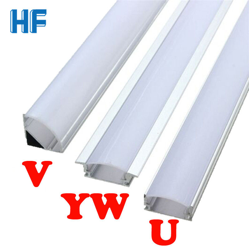 LED Bar Light Lamp U V YW Corner Aluminium Profile Channel Holder For LED Strip Light Bar Under Cabinet Lamp Kitchen Closet