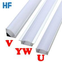 Led barra de luz da lâmpada u v yw canto perfil alumínio canal suporte para tira conduzida barra de luz sob armário lâmpada cozinha armário