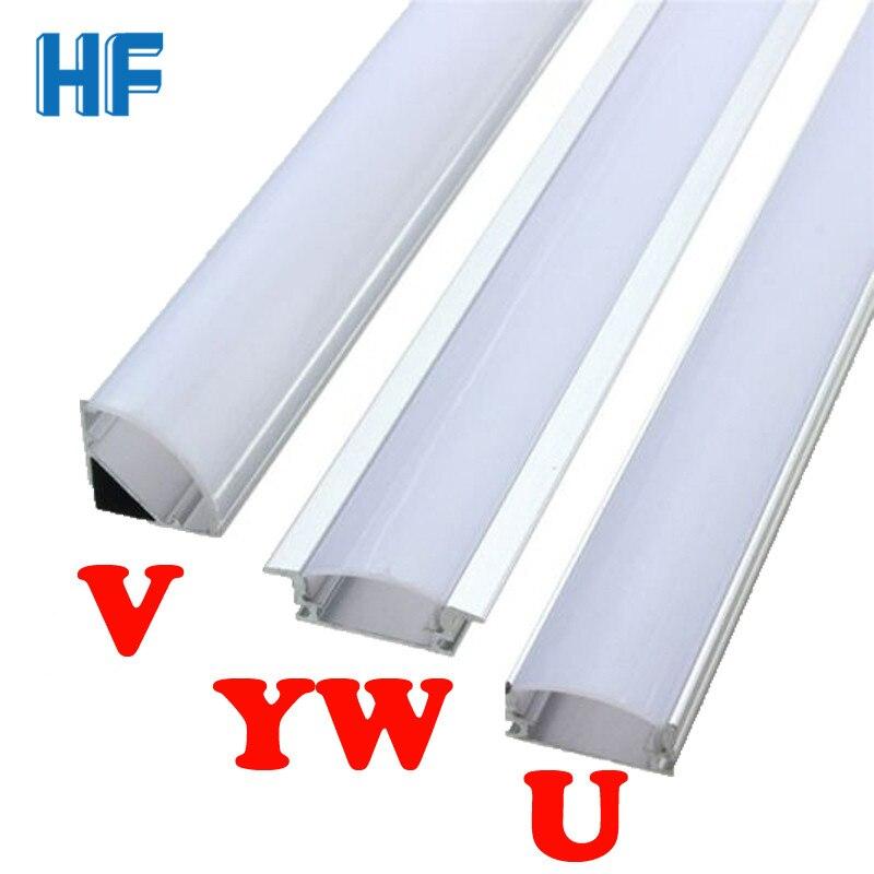 Светодиодный светильник для бара, лампа U V YW, угловой алюминиевый профиль, держатель для канала, светодиодный светильник для полосы, бар, лампа для шкафа, кухонный шкаф Светодиодные панели      АлиЭкспресс
