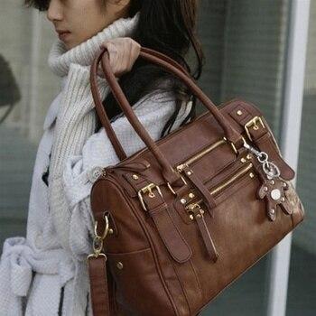 2020 Handbag Vintage Shoulder Belt Bear Casual Tote Female Soft Leather Bag Crossbody Women