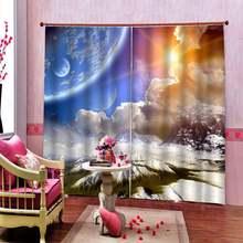 Креативные затемненные занавески для окон гостиной модные 3d