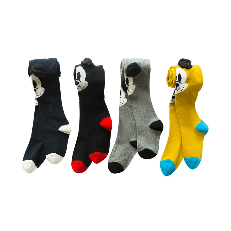 Disney Pantyhose For Girls Autumn New Children'S Leggings Cotton Cute Three-Dimensional Dog Animal Cartoon Girls Pantyhose LL01